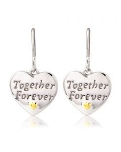 Silver 'Together Forever' earrings