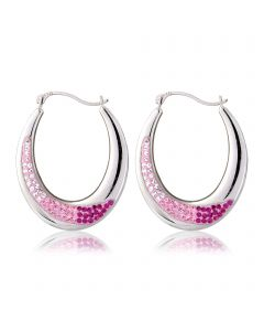 Sterling silver & pink glass crystal earrings