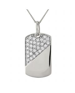 Sterling Silver Stone set Gents Pendant