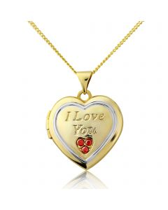 9ct Gold Plated on Silver 'I LOVE YOU ' Locket