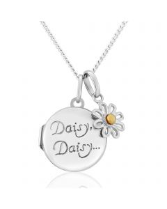 Sterling Silver Round 'Daisy Daisy' Locket
