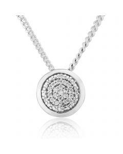 Sterling Silver Circular Stone set Pendant