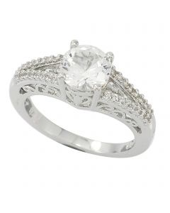 Sterling Silver Stone set Dress Ring