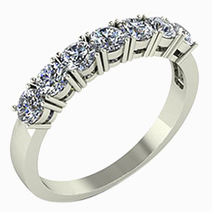 Moissanite Eternity Rings
