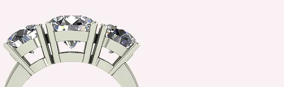 Moissanite Trilogy Rings